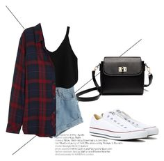 """""""Outfit for a walk with friends"""" by liza-ionova ❤ liked on Polyvore featuring WithChic, Rails and Converse"""