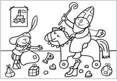 Kleurplaat Pompom: Sinterklaas Coloring Pages, Crafts For Kids, School, Fictional Characters, Pom Poms, Colouring In, Quote Coloring Pages, Kids Arts And Crafts, Printable Coloring Pages