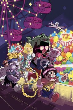 The Crystal Gems at the Carnival