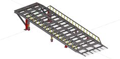 Trailer Ramp - AutoCAD - 3D CAD model - GrabCAD Trailer Ramps, Trailers, Car Ramp, Loading Ramps, 3d Cad Models, Gas Station, Autocad, Industrial, Design