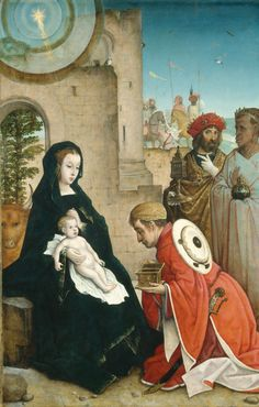 The Adoration of the Magi by Juan de Flandres c. 1508/1519, National Gallery of Art, Washington DC, USA.