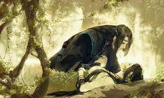 by Chinese illustrator Ibuki Satsuki 伊吹五月 Tolkien, Anime Fantasy, Fantasy Art, Fantasy Couples, Art Asiatique, China Art, Couple Art, Ancient Art, Anime Love