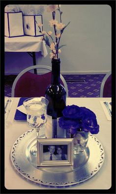 """Wine"" themed bridal shower center piece..."