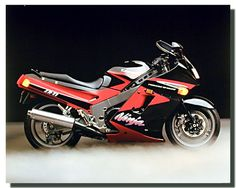 Vintage Ninja ZX11 Kawasaki Motorcycle Poster