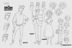 Living Lines Library: The Iron Giant (1999) - Characters, Size Comparison
