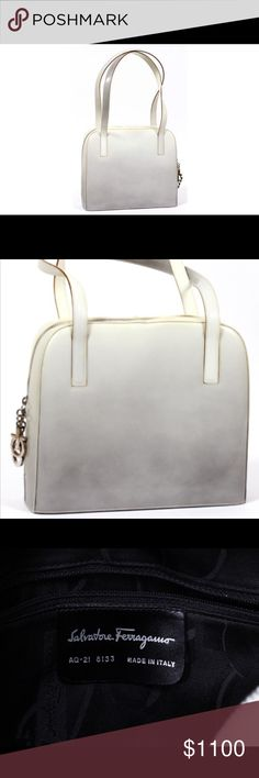 Gorgeous!!! Salvatore Ferragamo Handbag Stunning and Classic Salvatore Ferragamo Pearl Grey Ombré Handbag. 100% Authentic used only once. There is a Grey Blemish on the strap as shown in picture 4 and a small mark by the zipper as shown in picture 5. Very Rare Find!! Salvatore Ferragamo Bags Shoulder Bags