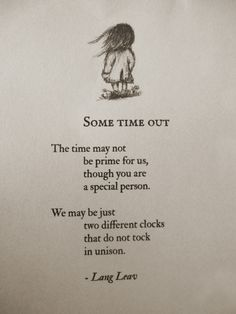 Some Time Out #poetry #love #relationships