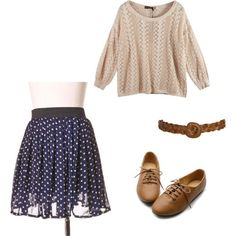cute back to school outfits | outfit outfits clothes fashion back to school polyvore skirt