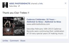 I wrote an article about Cadenza Records 10 Yr Anniversary Party in Romania on Feb 16th 2013 - This is what some of the DJ's had to say about it :)    http://www.addictedtoibiza.com/cadenza-celebrates-10-years/