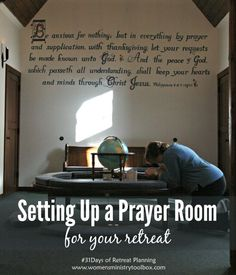 Ideas and Tips for Setting Up a Prayer Room for Your Retreat - from Women's Ministry Toolbox. Prayer Corner, Prayer Wall, Prayer Room, Prayer Board, Prayer Ministry, Women's Ministry, Ministry Ideas, Ministry Leadership, Leadership Tips