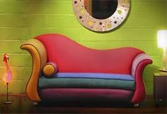Leather Heart Sofa With Footstool | Deco/Retro | Pinterest | Leather ...