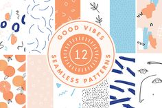 Good Vibes - Patterns by Shh! Maker Design on Creative Market