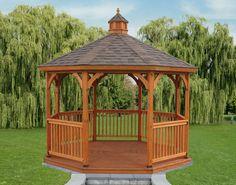 Home and Garden Design Idea's | Idea | 12\' Oct Wood Keystone Gazebo