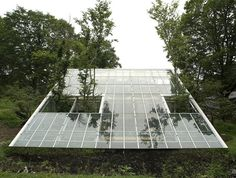 Finally, a greenhouse which can also accommodate people: the Camouflage House. Why should we continue considering that greenhouses are suitable only for plants? This house by Hiroshi Iguchi is part of the Fifth World project which aims to promote eco friendly, sustainable architecture. The house takes natural elements & blends them all into the design of the interior. Warm, natural materials are used. Wood for the floors, light, traditional Japanese panels, white canvas for heat control