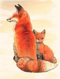 Vigilant Mama Fox by WeileAsh on DeviantArt