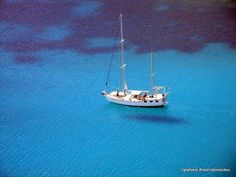 Sailing in Turquoise Water by Ifigeneia Apostolopoulou on Planet Earth 2, Turquoise Water, Cool Photos, Amazing Photos, Greece Travel, Greek Islands, Sailing, Journey, Boat