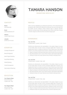 Resume Template with Matching Cover Letter and References Page. Professional Res ---CLICK IMAGE FOR MORE--- resume how to write a resume resume tips resume examples for student One Page Resume Template, Modern Resume Template, Creative Resume Templates, Creative Cv, Cover Letter For Resume, Cover Letter Template, Letter Templates, Templates Free, Cover Letters
