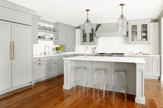 Custom Kitchen with Gray Cabinets