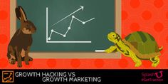 Growth Hacking vs Growth Marketing: Do you know the difference? Find out here on SplashU Social Media Marketing Agency, Digital Marketing, Growth Hacking, Starting A Business, Case Study, Hare, Evergreen, Tortoise, Entrepreneur