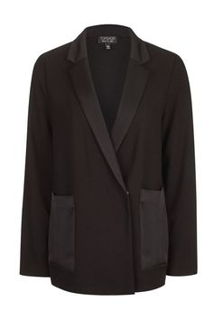 We love the oversized feel of this smart blazer in black. In a double-breasted design, it comes with satin pocket detailing for a luxe touch. Satin, Pocket Detail, Wardrobes, Double Breasted, Work Wear, Womens Fashion, Fashion Trends, Topshop, Blazer