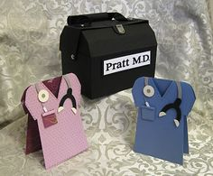 Stamp-n-Design Store: Doctor's Bag & Matching Scrub Shirt Card!