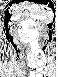 Coloring Pages Adult Books Colouring Lightbox Drawings Creatures Illustration Art Illustrations Quote