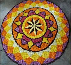 50 Best Pookalam – Indian Floral Design For Onam Festival