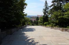 Slavin is a memorial monument and military cemetery of almost 7 000 Soviet soldiers who fell during the World War II while liberating the city in April 1945 Military Cemetery, Bratislava, Sidewalk, Castle, Memories, City, World, Memoirs, Souvenirs