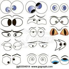 cartoon surprise Clip Art | ... - Cartoon eyes vector illustration set. Clip Art gg65594014