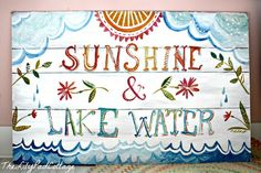 """PB Teen Inspired Summer Wall Art-Links to Coastal Charm Interiors in Mobile, AL and """"The Wheatfield"""" Etsy shop...cute stuff!"""