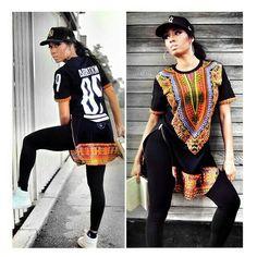 black dashiki swag, african print dashiki suit/dashiki top and pants, African prints, African fashion style, Nigerian style, Ankara