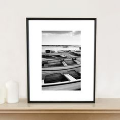 Boats, Orford Ness, Black And White Signed Art Print - shop by price