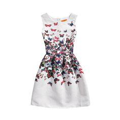 New Teenage Girls Dress Kids Printing Summer Dress Slim Sleeveless Princess Sofia Dress Kids Clothes For Girls 6 7 8 9 Year Olds