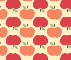 colors    Apples fabric by natalie on Spoonflower - custom fabric