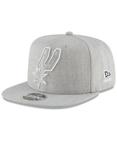 New Era San Antonio Spurs Logo Trace 9FIFTY Snapback Cap - Gray Adjustable  San Antonio Spurs 2252d103b709