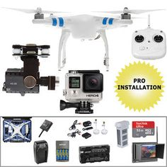 DJI Phantom 2 Pre-Assembled Bundle with GoPro HERO4 Black (Wheeled Case)
