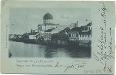 Romania, Nagyvárad, Oradea Mare, Großwardein - Oradea in trecut. Malul Crisului 1900