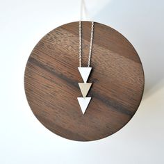 Triangle Necklace Handmade of Bronze and by TheAngryWeather, $100.00