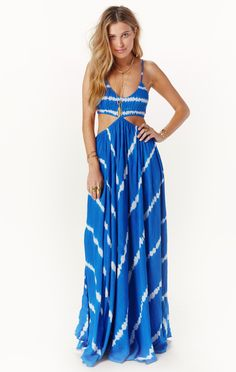 innocence cut out palazzo maxi dress by INDAH #planetblue