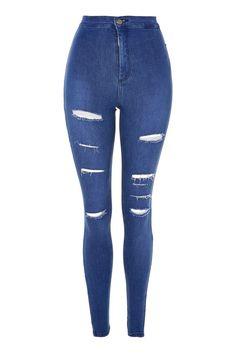 MOTO True Blue Super Rip Joni Jeans