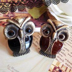 Exquisite luxury jewelry owl ring - $4.99USD