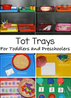Tot Trays are a great way to create toddler learning activities that are wonderful for preschool kids as well as 2 and three year olds. Here are some ideas! Toddler Classroom, Montessori Toddler, Preschool Classroom, Toddler Preschool, Maria Montessori, Classroom Ideas, Preschool Learning Activities, Preschool Activities, Kids Learning