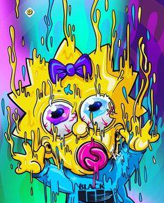Melting Maggie, The Simpsons Simpson Wallpaper Iphone, Trippy Wallpaper, Graffiti Wallpaper, Cartoon Wallpaper, Iphone Wallpaper, Simpsons Drawings, Simpsons Art, Trippy Cartoon, Cartoon Art
