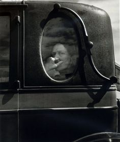 Funeral Cortege, End of an Era in Small Valley Town, California,1938 • Dorothea Lange