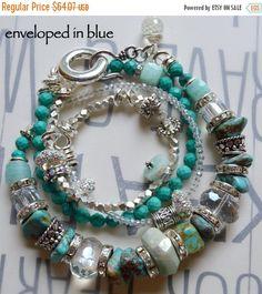 ON SALE turquoise bracelet aquamarine bracelet by soulfuledges