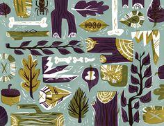 Sticks & Stones - Pam Wishbow Illustration