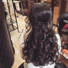 99 Peinados sencillos para mujeres y chicas muy…Latest Wedding Hairstyles 2018 – # 2018 # Hairstyles…The 48 Prettiest Hairstyles of Wedding Our Favorite Wedding Hairstyles For Long Hair Wedding Hair Down, Wedding Hair And Makeup, Bridal Hair, Hair Makeup, Boho Wedding, Wedding Half Updo, Prom Hair Down, Wedding Braids, Quince Hairstyles