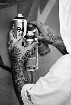 street art. spray cans