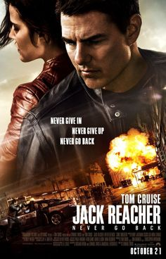 Jack Reacher: Never Go Back USA Paramount / Skydance Action thriller D/Co-Sc: Edward Zwick. Tom Cruise (+co-prod), Cobie Smulders. Films Hd, Films Cinema, Hd Movies, Movies To Watch, Movies Online, 1990s Movies, Indie Movies, Comedy Movies, 10 Film