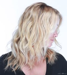 Beachy blonde color done by hairpainting  Beachy textured waves done by @cotehair sea spray by janelleloveshair